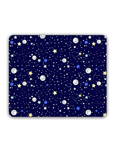Madanyu Designer Mousepad Non-Slip Rubber Base for Gamers - HD Print - Moon and Stars