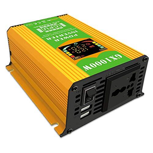 Andoer Modified Sine Wave Inverter High Frequency 500W Power Watt Power Inverter DC 12V to AC 220V Converter Car Power Charger Inverter with 2.1A Dual USB Port Battery Clips Car Cigarette Plug Display S