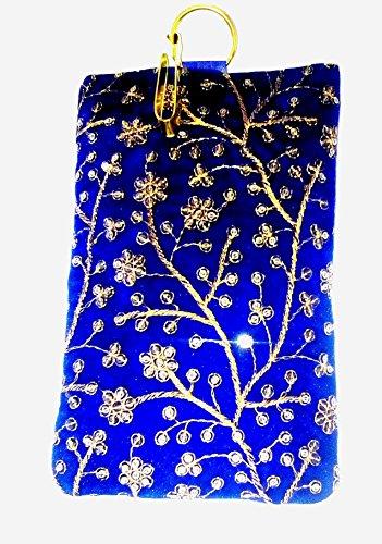 Edens Silk Zardoji Blue Mobile Cover