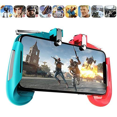 """FineArts AK-16 Pubg Remote Controller Gamepad Alloy Metal Triggers L1 R1 Shooting Aim Button Handle Joystick Compatible with All Mobiles Upto 6.5"""" inch"""