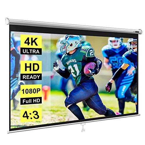 Spline Wall Type/Manual Pull Down Without Locking Projector Screen (10 Ft. (Width) x 8 Ft. (Height) - 150') Diagonal in 4:03 Ratio Aspect Supporting