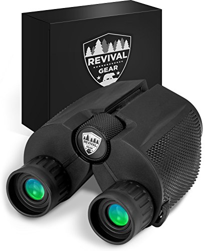 Gear Compact Binoculars : Best 12X25 Mini Binocular With Zoom Lens for Bird Watching, Concert Theater, Sports Game Hunting Field Glasses Vision. Includes Harness Strap & Case For Adults, Men Women & Kids