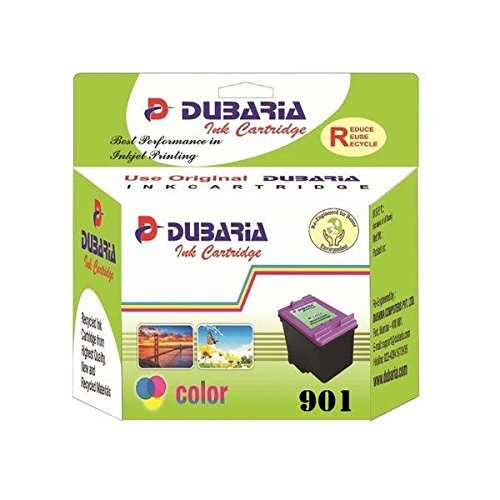 Dubaria Compatible Ink Cartridges 901 No. Color for HP Printers