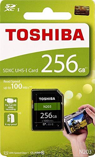 Toshiba 256GB UHS-I Class 10 SDHC Memory Card (Read Speed Upto 100 MB/s) (256GB)