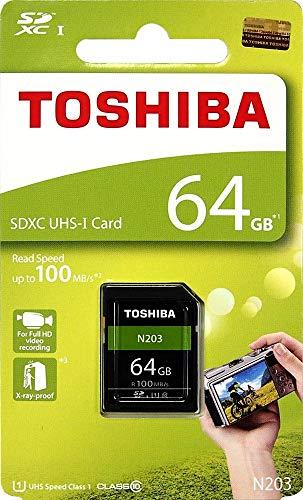 Toshiba 64GB UHS-I Class 10 SDHC Memory Card (Read Speed Upto 100 MB/s) (64GB)