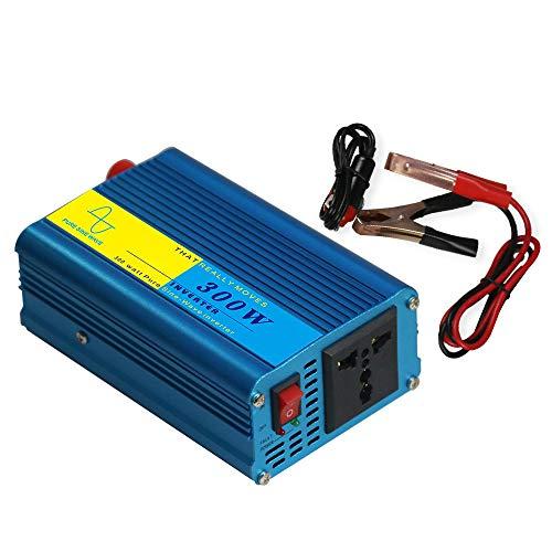 dodocool Power Inverter Vehicle Power Converter Universal Pure Sine Wave 300W DC 12V to 110V AC