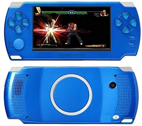 POWERNRI Grand Classic PSP MP4 Player With Built-In 4GB Memory with 10000 GAMES BLUE