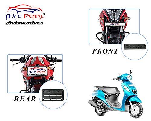 Auto Pearl Plastic Bike Registration License Plate Frame Holder, Bike Protective Frame License Plate Covers Holders for - Fascino