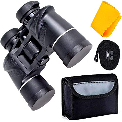 Rockfieln Powerful Binocular for Long Distance Foldable Monocular Telescope zoomable 10x50 with Lens 430FT@0YDS Vision high Power Long Eye Relief Survival Kit with Pouch