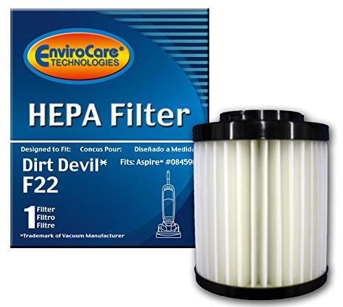 EnviroCare 1 X Dirt Devil F22 HEPA Filter. #084590 F-22