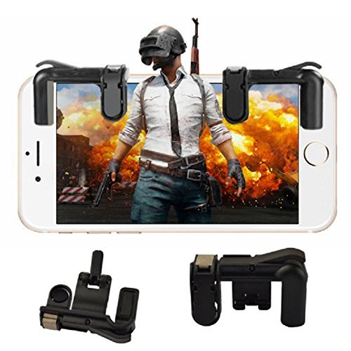 Shahn Mobile Game Controller Sensitive Shoot and Aim Buttons L1R1 for PUBG/Knives Out/Rules of Survival, PUBG Mobile Game Joystick, Cell Phone Game Controller for Android iOS 1 Pair)
