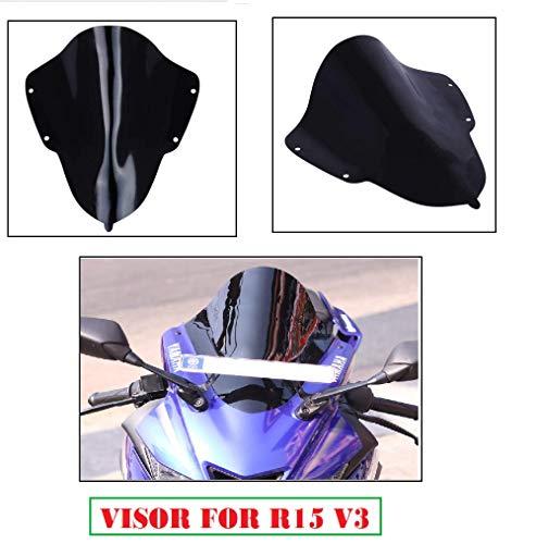 Aow Attractive Offer World Visor Glass for Yamaha R15 V3 (Black) B-82