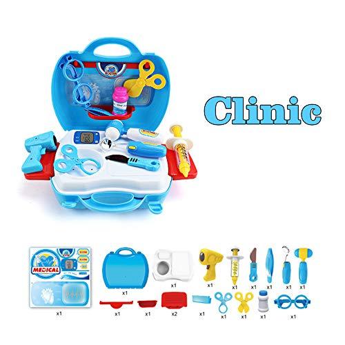 Anself Multifunctional Children's Educational Box Family Parent-Child Games Playhouse Suitcase Set