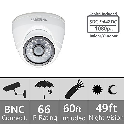 Samsung SDC-9442DC 1080p HD Weather-Resistant IP66 Dome Camera
