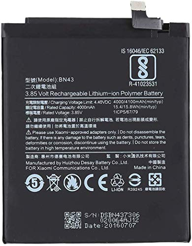 NMRA Enterprises National Mobile Related Accessories NMRA Mobile Battery BN43 Compatible Mobile Battery for BN43 Xiaomi Redmi Mi Note 4-4100mAh