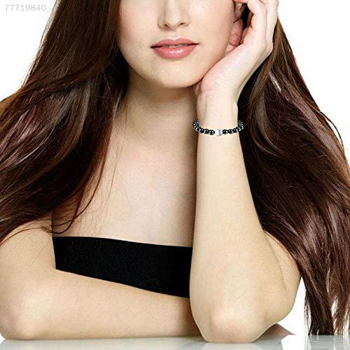 ELECTROPRIME 6F84 Magnetic Black Gallstone Pearl Bracelet Bangle Jewelry Fashion Ornament