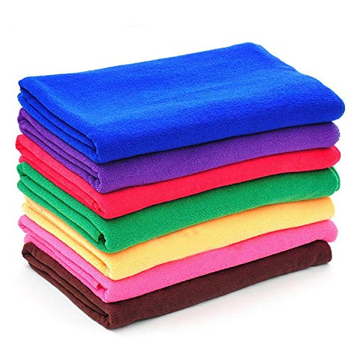 Motorola Moto Tech Microfiber Cleaning cloth | 10 Pcs | 350 GSM | 40X40 Cms | Thick, Lint and streak Free | Multipurpose Cloth for Car, Bike, Window, Kitchen, Home, office