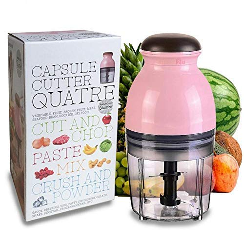 Kruvad Capsule Cutter Electric Tongue System Design Mini Food Processor and Chopper, Mixer, Meat Grinder, and Hand Press Manual Citrus juicer for Shake, Travel Juicer (Multicolor)