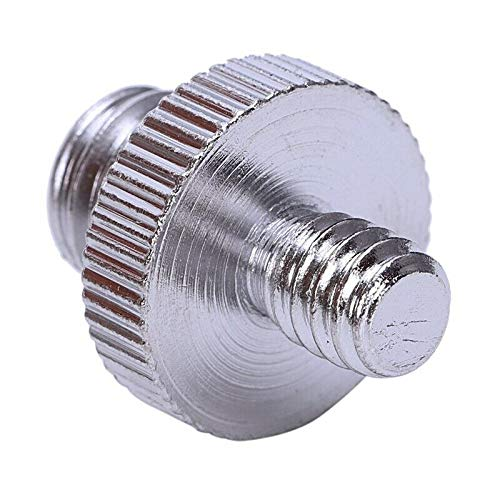 ELECTROPRIME 1X(Camera Screw Adapter 1/4 inch Male to 1/4 inch Male Screw 1/4 Male to 3/ O5C9