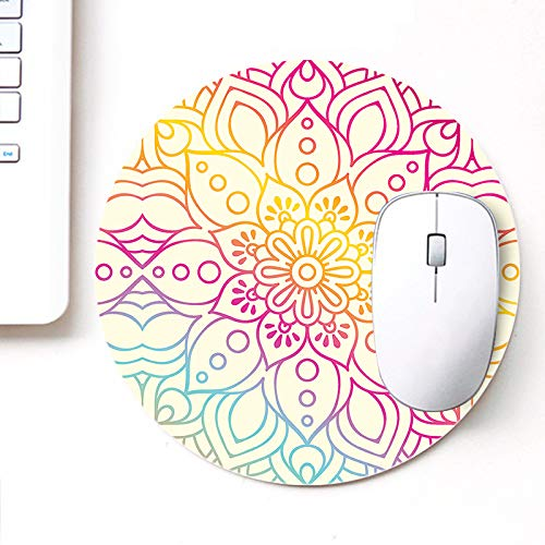 DASM United UVDesigner Printed Round Mouse Pad for Laptop n Computer | Ornamental Pasting Art | Mousepad for Gamers | Gaming Mousepad
