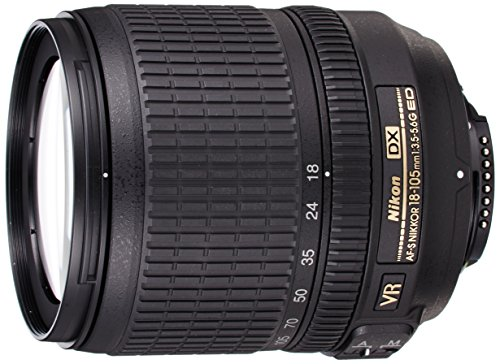 Nikon Nikkor AF-S 18-105mm f - 3.5-5.6G DX ED VR with Lens Hood & Case
