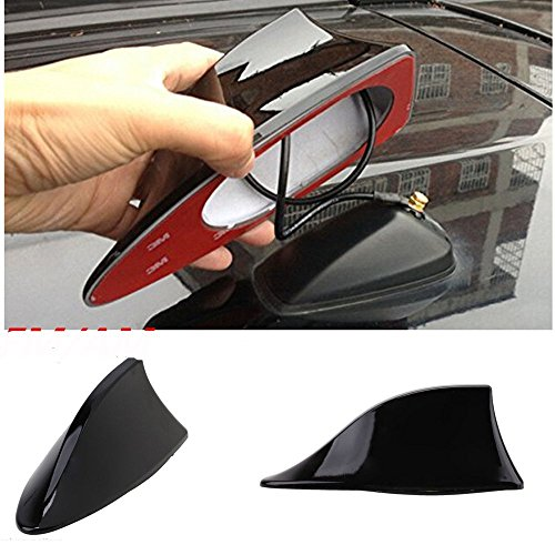 Motoway Car Shark Fin Roof Antenna Radio FM/AM Car Accessories Decorate Black for Renault Pulse