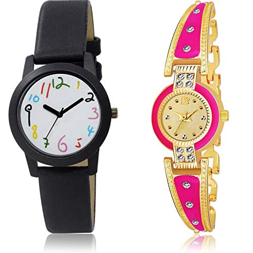 NEUTRON Royal Rajwadi Analog White and Gold Color Dial Women Watch - GO119-G446 (Pack of 2)