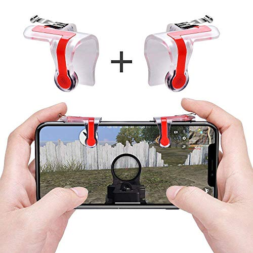 Sun flash PUBG Gaming Joystick Fire and Aim Key Trigger for Mobiles and Android Devices (Transparent)