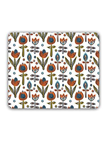 Madanyu Designer Mousepad Non-Slip Rubber Base for Gamers - HD Print - Lotus Floral Art