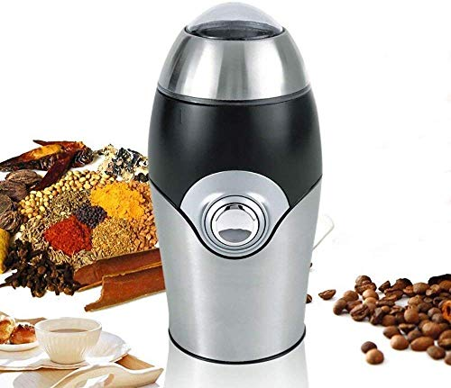 SYPRAM PRODUCTIONS SYPRAM® Electric Coffee Grinder - 200W with Stainless Steel Container & Blade - Powder Grinding Machine for Coffee Beans,Nuts,Spice Pepper,Dried Chili, Herbs - 40g Capacity - for Home Office Travel