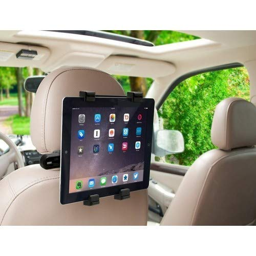 MODERN IN Car Headrest Mount Holder/Rotating Cradle Back Seat Dock Stand for iPad/Samsung Tab/Kindle and Other Tablets from 7 to 10 inch (Black)