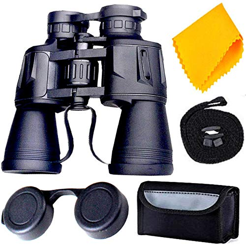Rockfieln Powerful Binocular for Long Distance Foldable Monocular Telescope zoomable 20x50 with Lens 168FT@0YDS Vision high Power Long Eye Relief Scope Survival Kit with Pouch