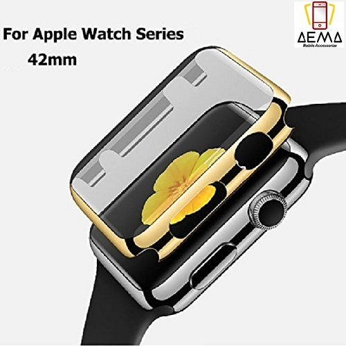 ae mobile accessorize TPU All-around Ultra-thin Hard High Full Cover for New Apple Watch Series 1/2/3 (42 mm, Gold)