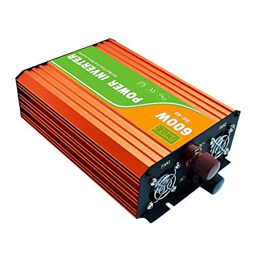 KKmoon-1 Continuous Pure Sine Wave Inverter 220V 600W High Frequency Surge Peak Power Watt Power Inverter USB Port