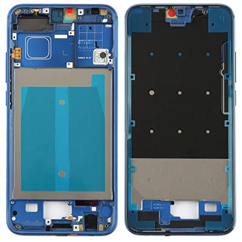 TANNGDIFNJAUN Parts Full Housing Cover Front Housing LCD Frame Bezel Plate with Side Keys for Huawei Honor 10(Black) (Color : Blue)