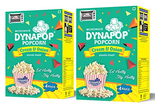 Dynapop®, Microwave Popcorn, Cream & Onion Combo Pack 800g (2 x Pack of 4 x 100g)