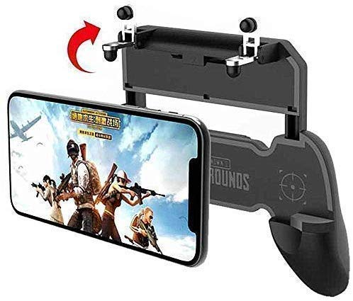 Captech 2 in 1 Mobile Remote Controller Gamepad Holder Handle Joystick Triggers for PUBG L1 R1 Shoot Aim Button for iOS and Android(Multicolour)