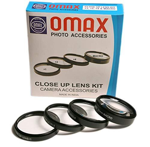 Omax 58mm Closeup Lens kit for 58mm Front Threaded Lenses
