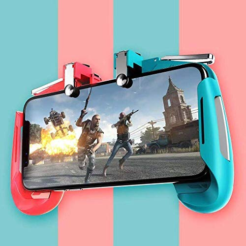 "Mobile Gamepad AK-16 Pubg Remote Controller Gamepad Alloy Metal Triggers L1 R1 Shooting Aim Button Handle Joystick Compatible with All Smartphones Upto 6.5"" inch by CHG"