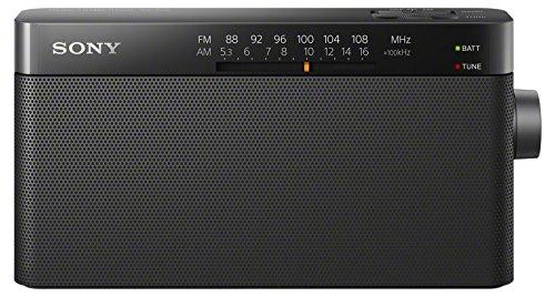 Sony ICF-306 Portable AM FM Radio (Black)