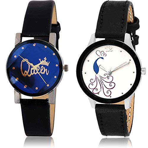 GROOT King and Peacock Analog Multi Color Dial Girls Watch - GC307-G271 (Pack of 2)