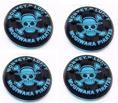 TMG Designer Series Thumb Grip Anti-Slip Silicone Cap Coverfor PS4, Xbox One, Xbox 360 and PS3 Pirates Blue (4Pcs)