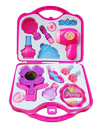 jaynil enterprise beauty set with hair dryer and accessories toys for kids-Pink