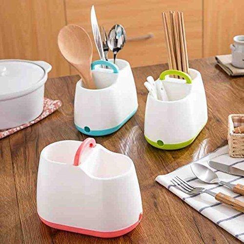 Manki Fashion Cutlery Stand Spoon Stand Holder Kitchen Dry Strainer Drainer Spoon Fork Organizer Dryer Storage Dock