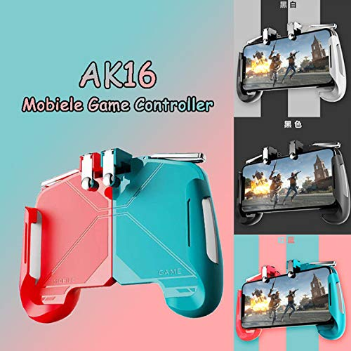 CHG Pubg Smart Portable Heavy Quality,Mobile Phones Gaming Controller Handle PUBG and Other Games Controlling Joystick Handle All Smart Mobile Phones Controller.[Ak-16] Portable Game Pad-Blue Red