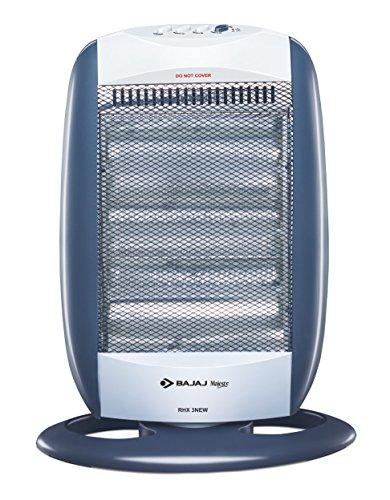 Bajaj New Majesty RHX 3 1200 Watts Halogen Room Heater (Blue/Silver, ISI Approved)