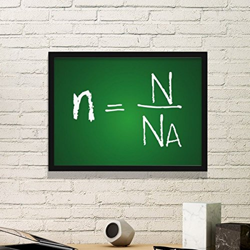 DIYthinker Chemistry Kowledge Amount of Substance Formula Simple Picture Frame Art Prints Paintings Home Wall Decal Gift Small Black Small Black