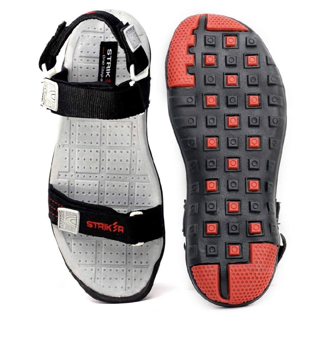 as8creation Striker Mens Sandals(010 Black)