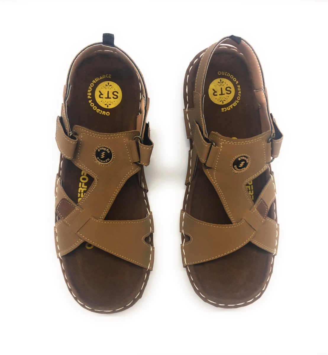 as8creation Striker Mens Sandals(6002 Tan)