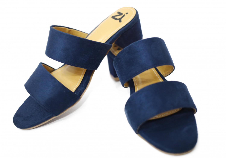 Hienbuy Brand New Block Heel Slipper For Girls (blue)